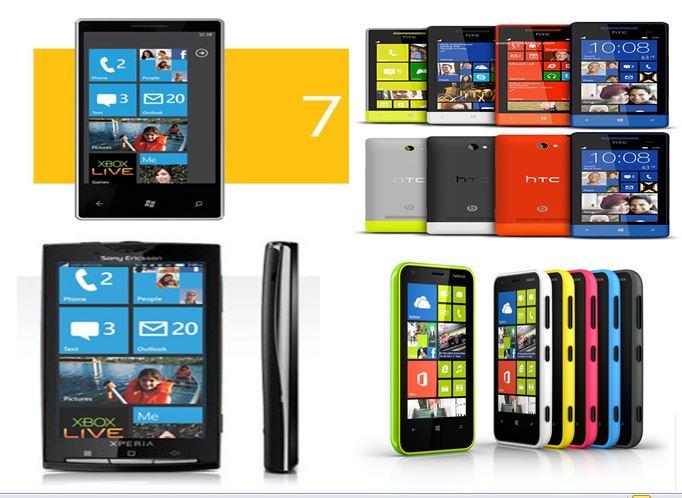 Những mẫu smartphone hệ điều hành Windows phone với thiết kế đẹp và hiện đại. Ảnh: thegioididong.com