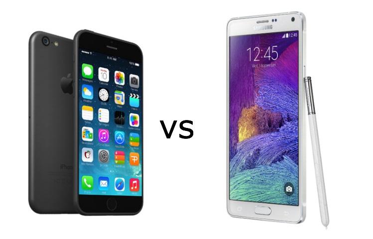 So sánh iPhone 6 và Samsung Galaxy Note 4