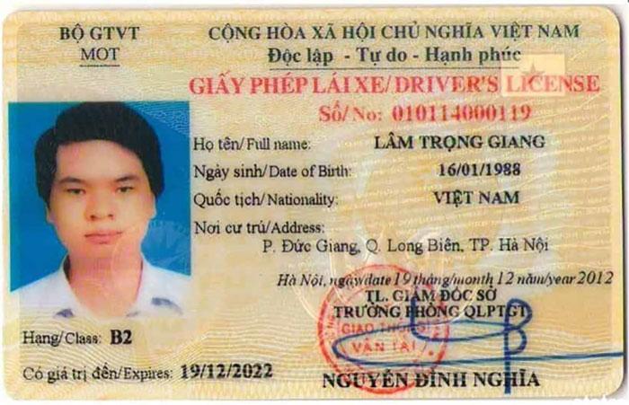 Ảnh bằng lái xe B2 được cấp sau thời gian học và thi sát hạch