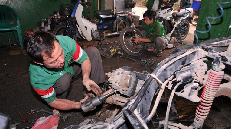 Việc làm thợ sửa xe máy