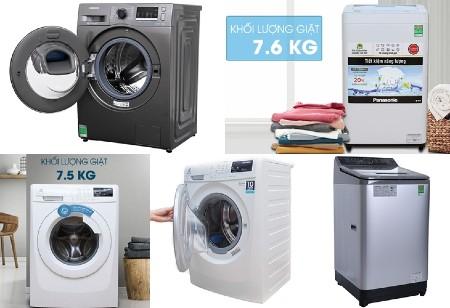 phân loại máy giặt theo khối lượng