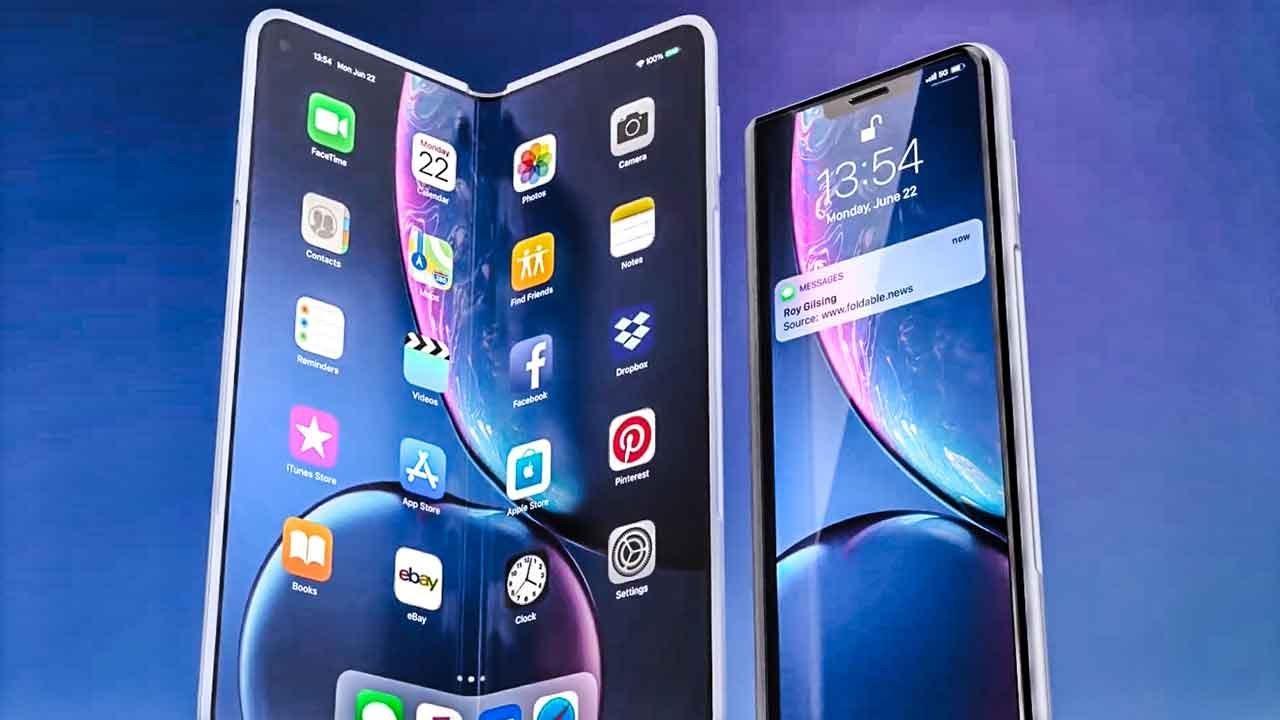 Iphone gập dự kiến sẽ có thiết kế tương tự Surface Dou của Microsoft