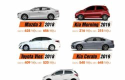 Giá giảm nhẹ, thị trường ô tô cũ bớt 'rầu' trong tháng Ngâu 2020