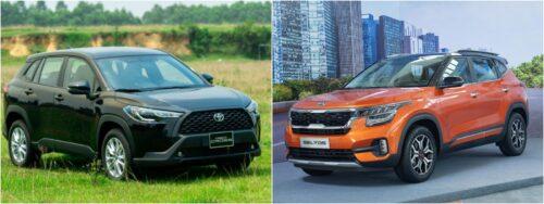 So sánh Kia Seltos bản cao nhất và Toyota Corolla Cross bản thấp nhất
